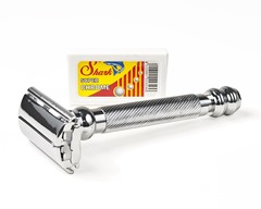 Parker 99R - Long Handle SUPER HEAVYWEIGHT Butterfly Open Double Edge Safety Razor