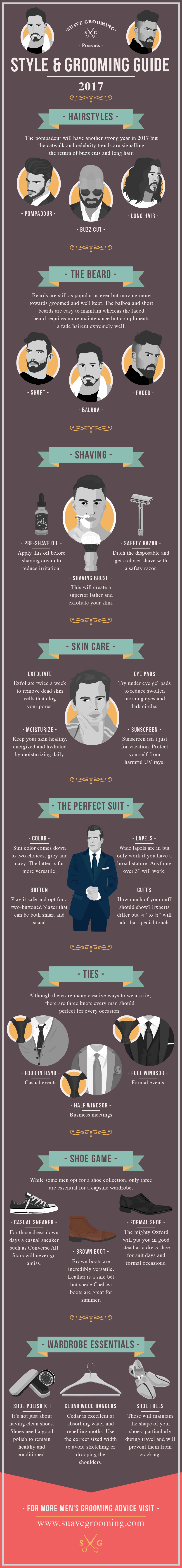 Suave Grooming's Style & Grooming Guide 2017